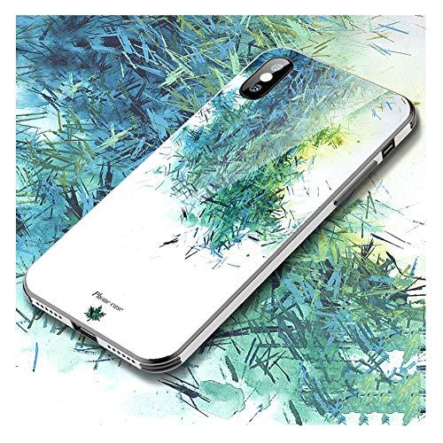 JZWDMD iPhone XS MAX Hülle,9H Mädchen gehärtete Glasabdeckung für Frauen, Art-Design für das Apple iPhone XS MAX, iPhone X/XS Schutzhülle gegen Stöße und Kratzer,D,iPhoneX/XS - Art-glas-apple