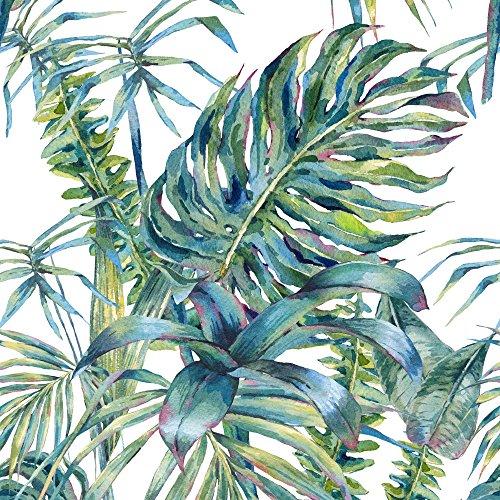 murando Carta da parati adesiva 10 m Tropicale Foglie Monstera Stickers Murali Carta da parati moderna Fotomurali adesivi Carta da parati autoadesiva Fotomurale Stickers da muro verde b-A-0369-j-a