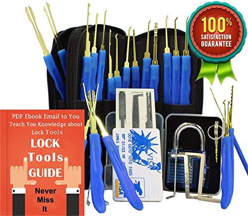 antool-blue-transparent-cutaway-practice-padlock-24-piece-stainless-steel-hook-lock-pick-set-with-pu
