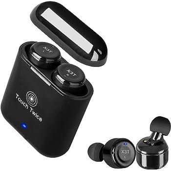 OBEST Mini Auricolare Senza Fili Bluetooth Auricolare Invisibile In-Ear Cuffie  con Microfono e Scatola per Ricarica per iPhone Ipad e Android (Nero) 9c8e4e69f168