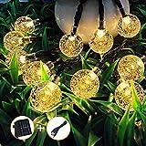 Mit USB Ladefunktion, InnooLight 30er LEDs 6m Solar Lichterkette aussen, WasserdichteWarmweiß Kugel Lichterkette Garten Außen, Solar...