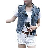 Gilet Jeans Donna Primaverile Autunno Casual Smanicato Jeans Jacket Elegante Costume Fashion Ragazza Hipster Cappotto…