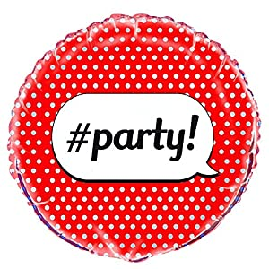 Unique Party Globo Foil Fiesta Party, Color Rojo 45 cm 56667