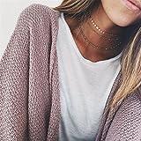 Elistelle Halskette Für Damen Frauen Mädchen Gold Choker Mehrreihig Kette mit Anhänger Halsband Ketten