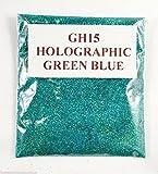 (GH15–holografisch Grün Blau 10g) Kosmetik Glitzer Glitter Augen Glitter Tattoo Glitzer Lippen Gesicht und Körper Badekugeln Seife