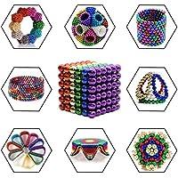 Kuiji Puzzle de Bolas Magneticas, Puzle de Bolas de 216 Bolas Magnéticas 5MM (6 Colores, 1 Set)