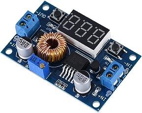 ASHATA Einstellbar DC Converter Step-Down Modul, LCD Digital 5A 75W DC-DC Spannung Strom Step-down Buck-Modul Stabil Spannung Netzteil Adapter Modul Blau