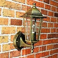 Antigüedad Exterior de pared Lámpara paris/IP44, aluminio fundido/Estilo Rústico/wettergeschützte lámpara de pared para exterior Patio Jardín