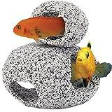 Nascondigli ornamentali acquario per ciclidi - 1 piccolo e 1 medio da inserire uno sull'altro