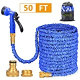 Best Coiled Garden Hoses - Homeme 50ft Hose Pipe - Expandable Garden Hose Review