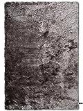 Benuta Shaggy Hochflor Teppich Whisper Grau 120x170 cm | Langflor Teppich für Schlafzimmer und Wohnzimmer