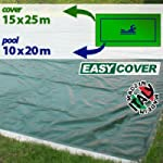 Telo di copertura invernale per piscina 10 x 20 mt