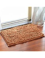 Chenilla tapetes de baño anti - resbalón Mat Mat Baño Pies absorbentes de la sala dormitorio de noche Salón Foothill Mats ( Color : B )