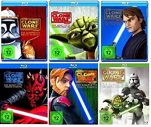Blu-ray Set * Star Wars - The Clone Wars - Season/Staffel 1+2+3+4+5+6 (1-6) (Star Wars Blu-ray Set)