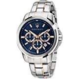 Orologio da uomo, Collezione Successo, con movimento al quarzo e funzione cronografo, in acciaio e PVD oro rosa - R8873621008