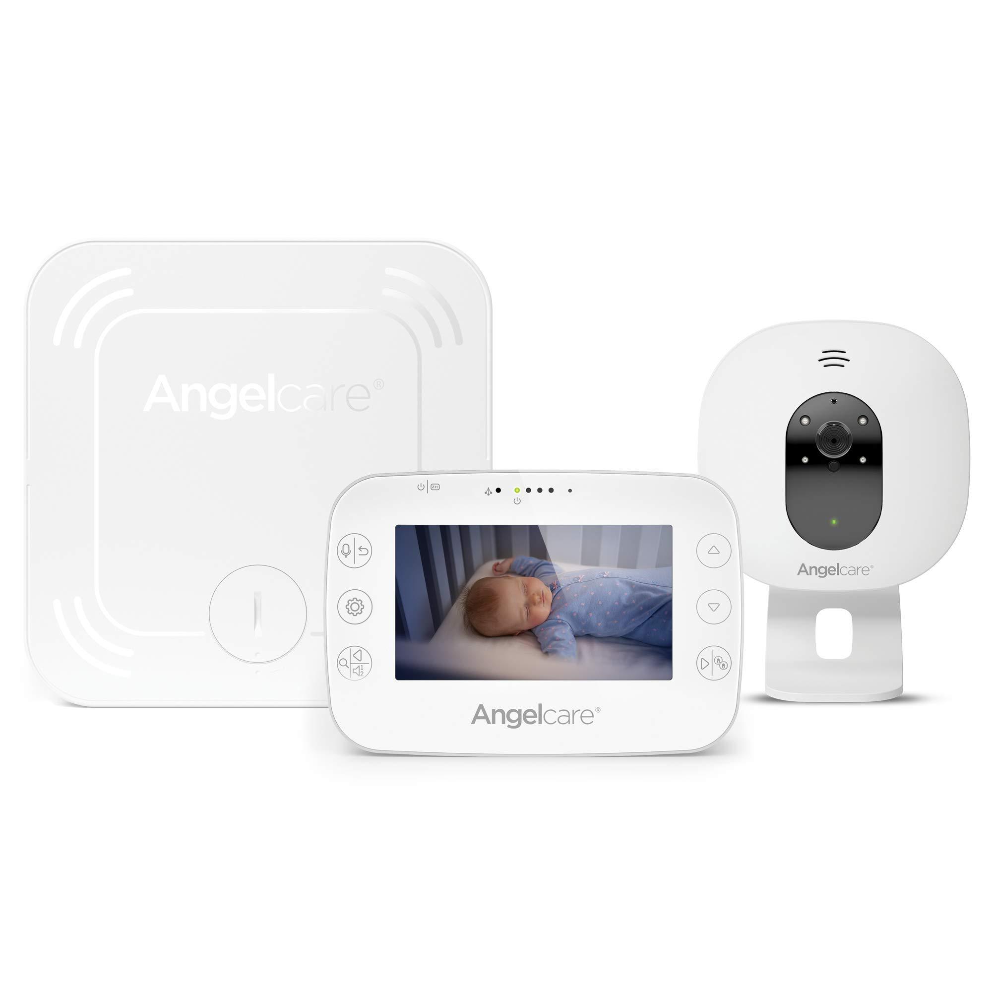 Angelcare AC327 Video Babyphone mit Bewegungsmelder, 4,5 Zoll, Infrarot-Nachtsicht