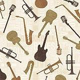 Windham Stoff mit Musik-Motiv, Halbmeterware, 50x