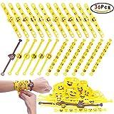 ZesGood 36 Pack Soft Emoji Bracelet Emoji Rubber Bracelet,Wristbands Party Bag Toys, Funny Children Party Bag Fillers 36 Pack in 3 Designs