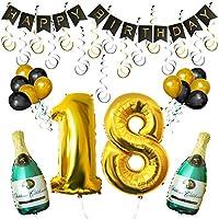 Set 18esimo Compleanno Decorazioni Palloncini Striscione da Kurtzy  Noi di Kurtzy, sappiamo quanto le decorazioni siano importanti per rendere una festa splendida. Questo è il motivo per cui questo set di palloncini e decorazioni è realizzat...
