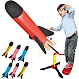 Mumfactory Rocket Launcher Toy for kids – Shoots Up to 100 Feet – 6 Colorful Foam Rockets - Fun Outdoor Toy for Kids - Gift T