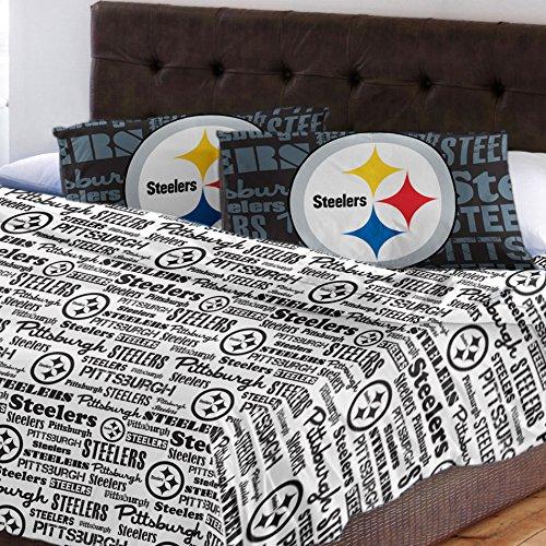 NFL 4 Pittsburgh Steelers Full-Bettlaken-Set Fußball Team Hymne Betten Zubehör Nfl-zubehör