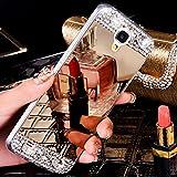 JAWSEU Samsung Galaxy Note 3 Custodia Cover Silicone TPU, Lusso Moda Specchio Bling Glitter Diamante Strass AntiGraffio Antiurto Ultra Sottile Cristallo Morbida Soft Gel Protettiva Bumper Case