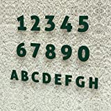 Colours-Manufaktur Hausnummer Modern 0-9 und A-H *Made in Germany* Viele Verschiedene Farben und Größen wählbar (15 cm, RAL 6005 moosgrün [grün] glänzend)