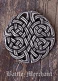 Gürtelschnalle Keltischer Knoten LARP Gürtelschließe Wikinger Mittelalter Silber oder Bronze (Silber)