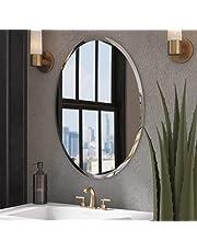 Quality Glass Decorative Frameless Oval Mirror   Mirror for Wall   Mirror for Bathrooms   Mirror for Home   Mirror Decor   Mirror Size : 18 inch x 24 inch.(QG-FL-006)
