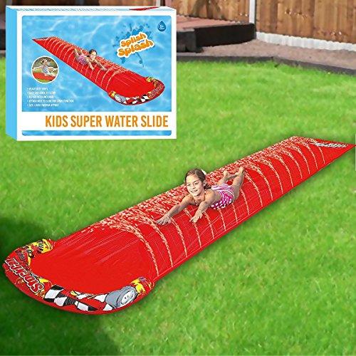 Fineway. New Childrens Kids Soak N Splash Aqua Garden Water Slide Spray Sprinker Pool Toy-Size: 500cm (L) X 90cm (W)