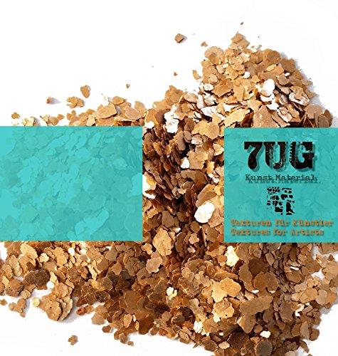 7UG Glimmer/Mica/NEU kupferrot schimmernd/mineralisches Effektmaterial zum Mischen mit Acrylbinder -
