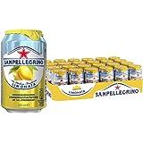 San Pellegrino Limonata, Zitronenlimonade, Hoher Fruchtanteil, 16% frisch gepresste Zitronen, Saure Geschmacksnote, Ohne künstliche Farbstoffe, 24er Pack, EINWEG (24 x 0,33l)