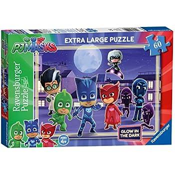 Ravensburger PJ Masks, XXL 60pc Glow in the Dark Jigsaw Puzzle