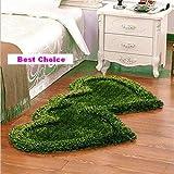 #3: Best Choice Super Soft Silky Non-Slip Heart Shape Shaggy Carpet Runner, Mats For | Bedroom | Living Room | Floor | Home Decoration