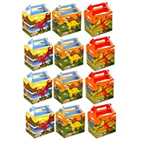 VALUE PACK 12 x Dinosaur Paper Lunch Box Going Home Present Picnic Boxes