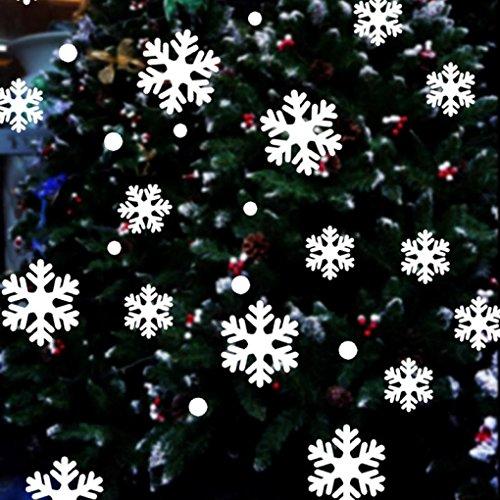 K-youth® Pared De Ventana Pegatinas Copo Nieve Navidad