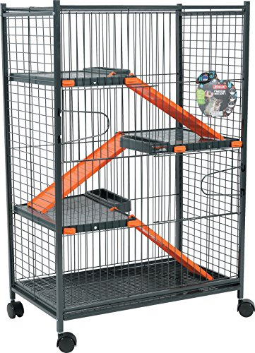 Zolux Chinchilla/Ferret Cage - Orange, 72 x 43 x 107 cm