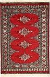 CarpetVista Pakistan Buchara 2ply Teppich 78x122 Orientalischer Teppich