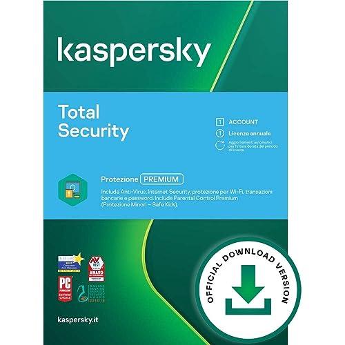 Kaspersky Total Security 2021   2 Dispositivi   1 Anno   PC / Mac / Android   Codice d'attivazione via email