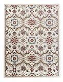 We Love Rugs - Carpeto Großer Traditioneller Perserteppich - Creme Rot - Orientalisches Muster - Blumen Blätter Ornamente - Top Qualität Pflegeleicht Teppich EMIRAT 300 x 400 cm