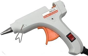Qualimate Hot Melt Glue Gun Kit 40 Watt, Decorations & Furniture Quick Repairs,Black (5 Hot Glue Gun Sticks Included)
