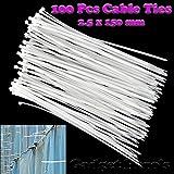 Gadget Hero's Nylon Cable Ties / Tie Wrap / Hose Tie / Zip Tie. 2.5 x 150 mm. 100 pcs.