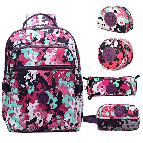 fhdc Rucksäcke Mädchen-Schulursprünglicher AFFE-Rucksack Für Jugendliche wasserdichte Frauen-Feste Laptop-Reisetaschen-Wolke (Dc-rucksäcke Für Jugendliche)
