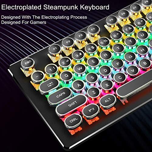 jieGREAT  Mechanische Tastatur Räumungsverkauf  , Galvanisch Steampunk Blue Switch 104 Tasten RGB Gaming mechanische Tastatur