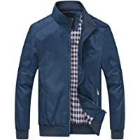 FTCayanz Uomo Giacca Casuale Cappotti Trench Zipper Cappotto Slim Fit