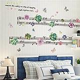 Wandtattoos WandbilderSukkulenten Musikwandaufkleber Papierwohnzimmer Schlafzimmer Sofahintergrund Wand Wanddekoration frische Ideen Aufkleber selbstklebend 60 * 90CM