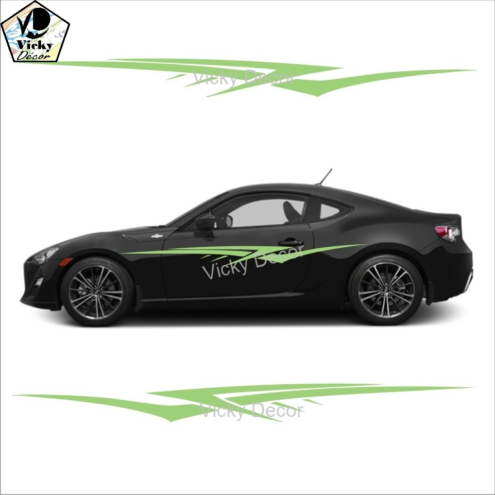 Vicky Decor Car Sticker Side Crs Full Body Vinyl Car Decal Size - Car side decals designpopular sport car graphicsbuy cheap sport car graphics lots from