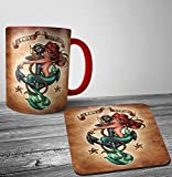 Search : Disney Ariel Punk Tattoo Mug And Coaster Set