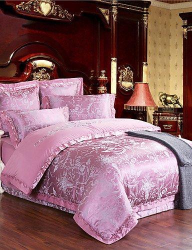 ZHUAN GAOHAIFQ®, vierteilige Anzug,heißer rosa Bettwäsche-Set Tribut Seide weiche Bettwäsche Blätter für Wohnzimmer Heimtextilien 4pcs Königin King-Size, King - Camouflage Blatt Königin