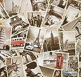 ziooer Vintage Retro Old Reise Postkarten für wert sammeln, 32 PCS 1 Set